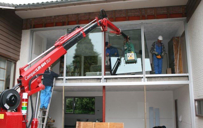 Verhuur Hoeflon Compactkraan |Overveld Glas Breda