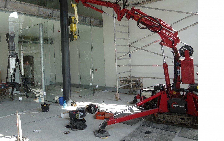 Verhuur Hoeflon Compactkraan | Overveld Glas Breda