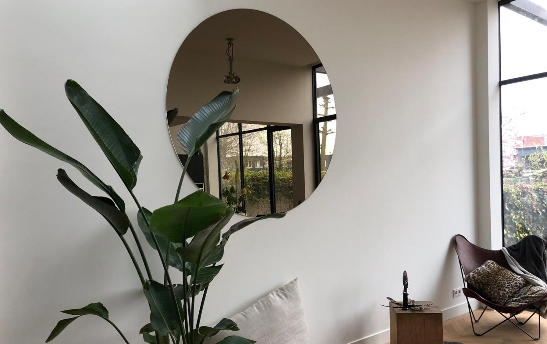 bronzen ronde spiegel
