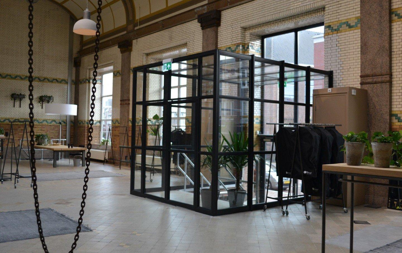 Wonderbaar Glazen scheidingswand industriële look │ Overveld Glas Breda MG-88