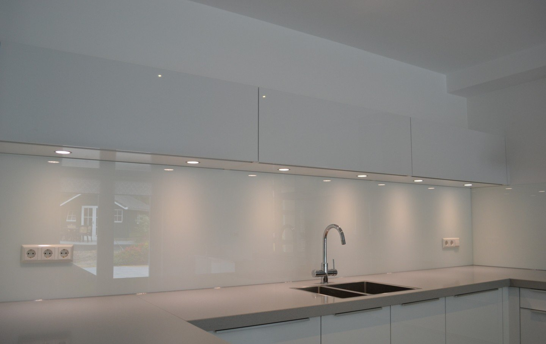 Glazen keuken achterwand │ overveld glas breda