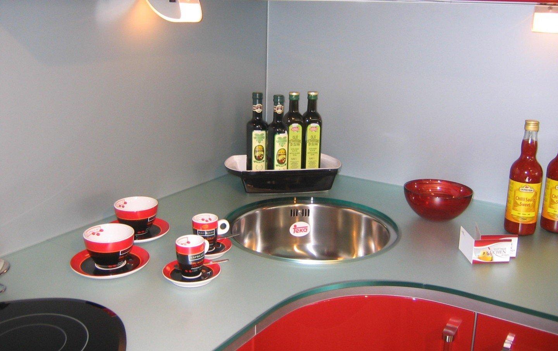 glazen keukenblad